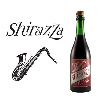 10 Flaschen ShirazZa + 2 Champagnergläser