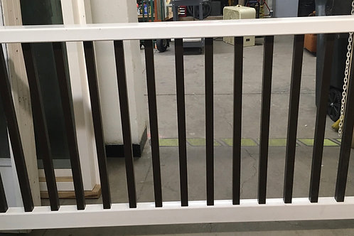 Top bottom rail and spindles