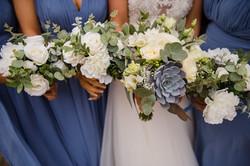 bridesmaid bouquets succulent silk flowe