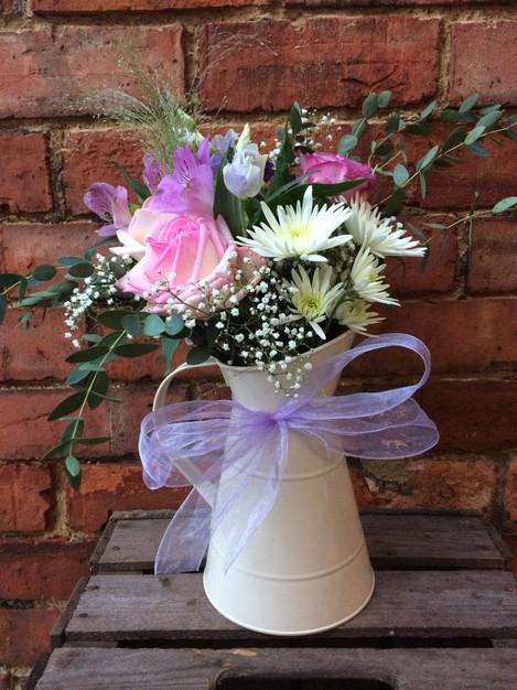 Jugs with Seasonal Flowers (from £29)