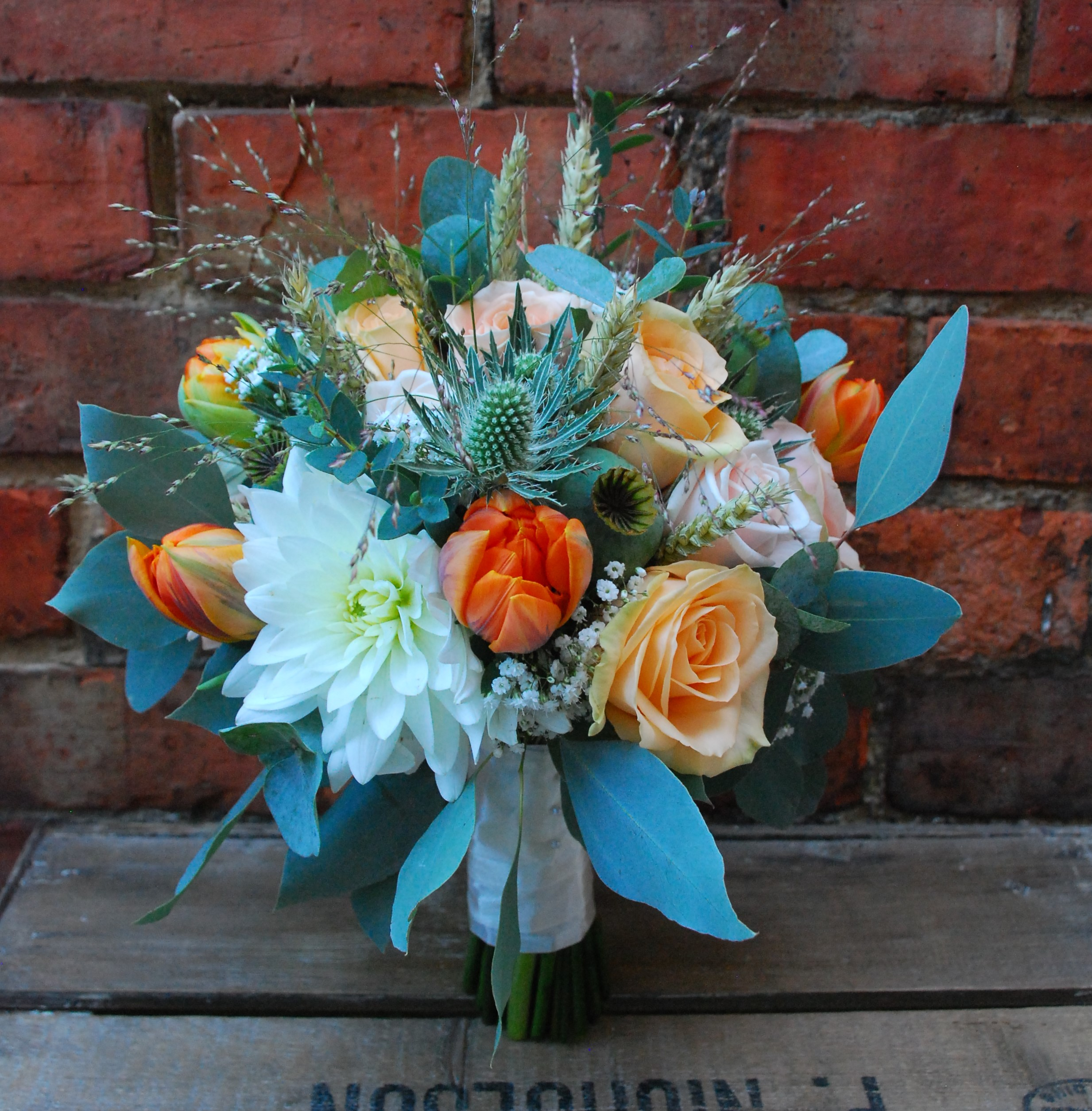 Bridal bouquet autumn wedding with love