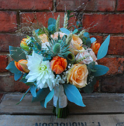 Bridal bouquet autumn wedding with love