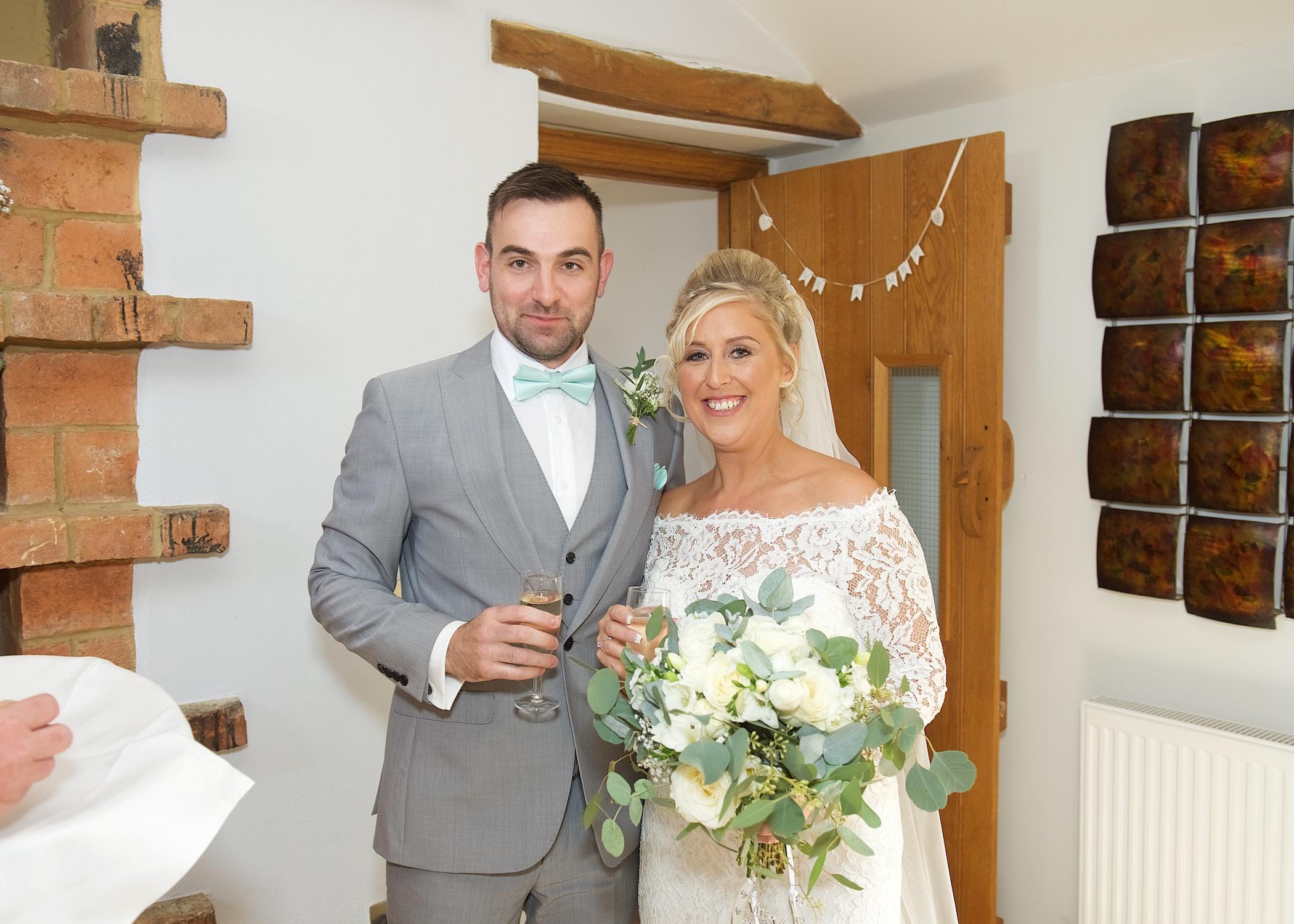 bridal bouquet classic white eucalyptus