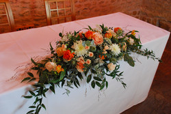 ceremony table spray flowers Dodford Man