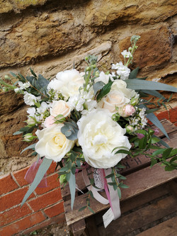 bridal bouquet peony spring flowers