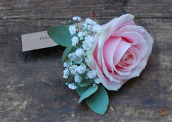buttonhole with love and roses