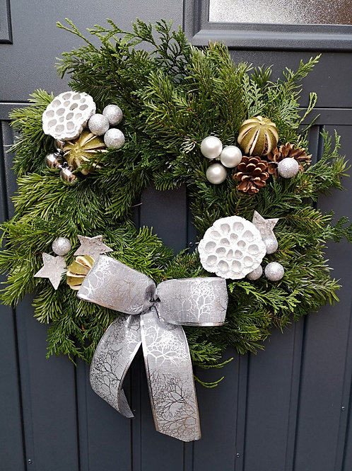 DIY Wreath Box -Frosted White
