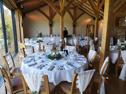 reception decoration dodford manor with
