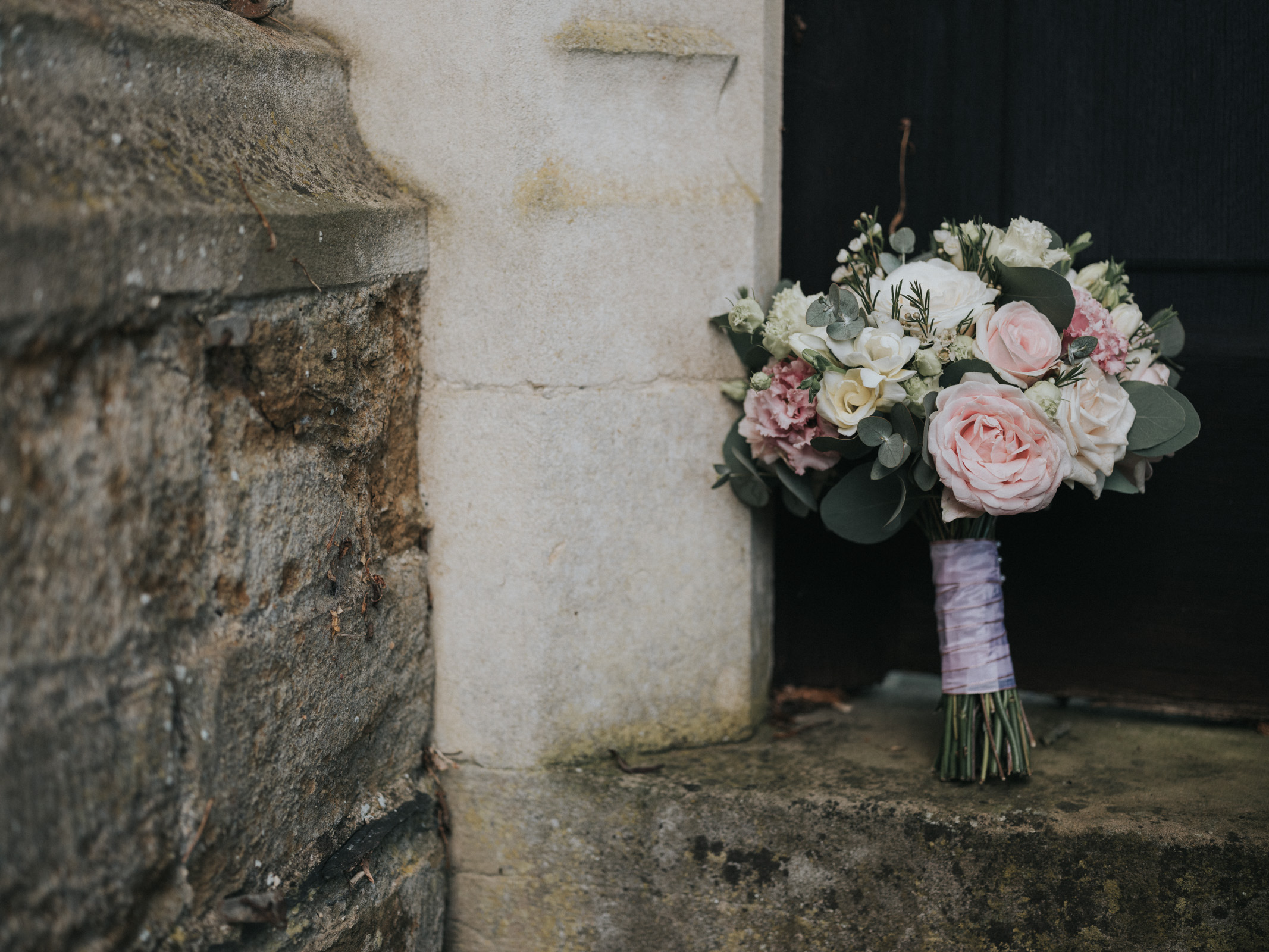 Bridal bouquet holdenby house with love