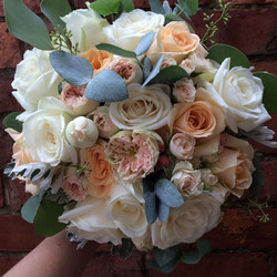bridal bouquet with love and roses