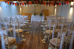 ceremony room The Granary at Fawsley wit
