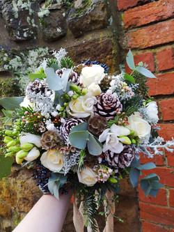 Bridal bouquet winter christmas bouquet