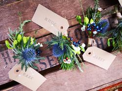 buttonholes winter wedding dodford manor