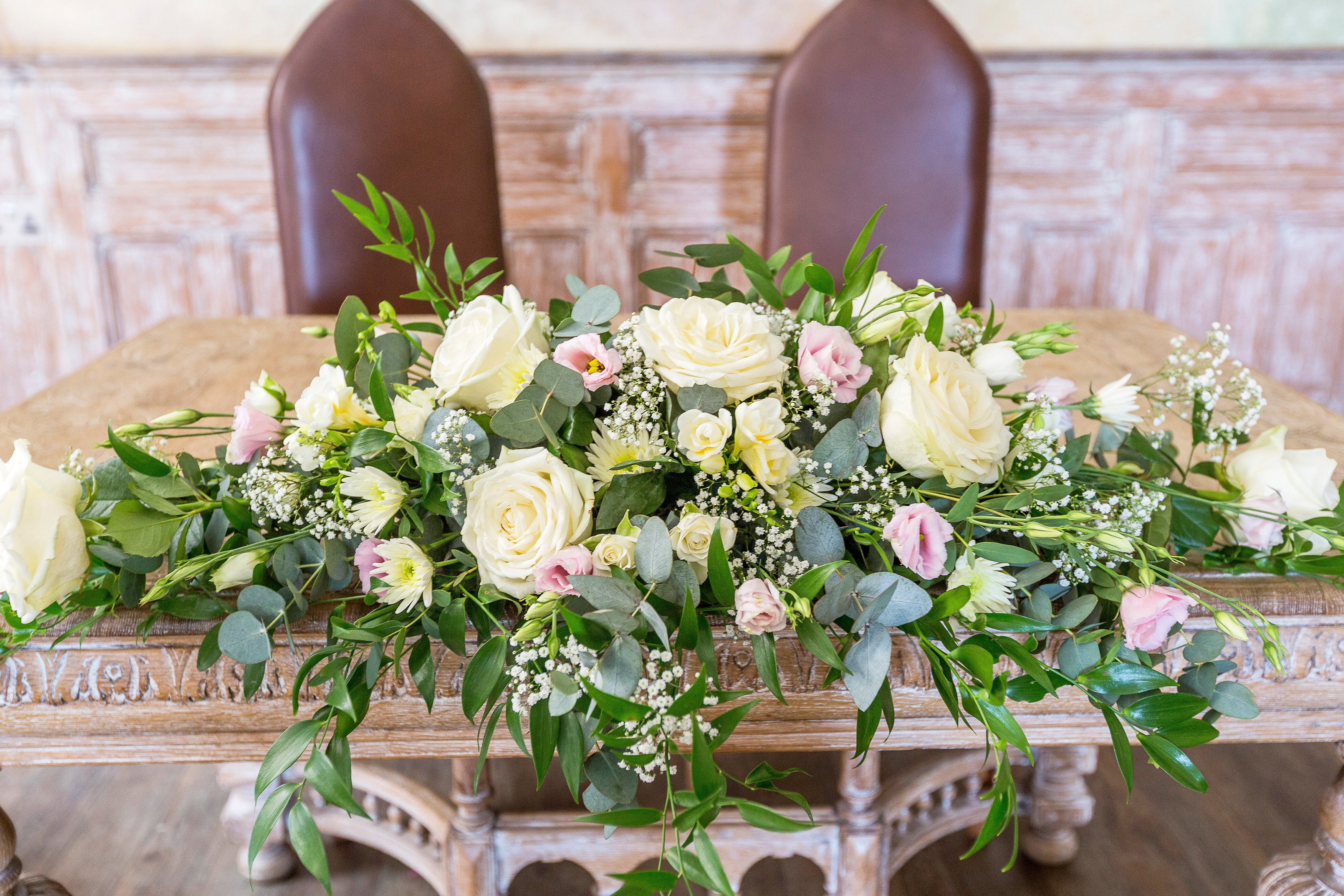Ceremony Spray flowers Fawsley Hall With