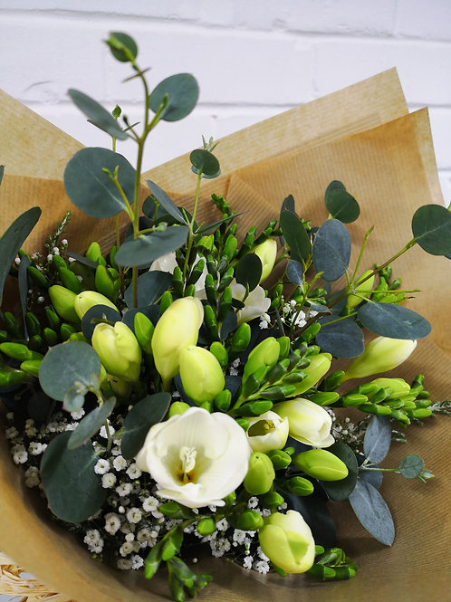 Scented Freesia and Eucalyptus Bouquet