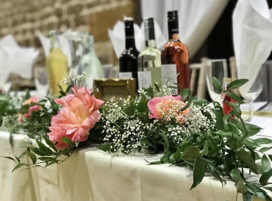 reception decor top table arrangement