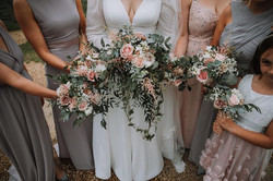 Bridesmaid Bouquet Blush Pink With Love