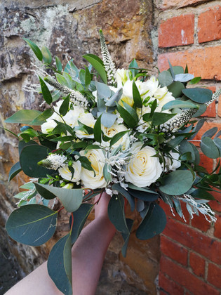Classic whites and greens bouquet