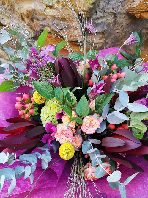 Autumnal 'Florist Choice' Handtied Bouquet