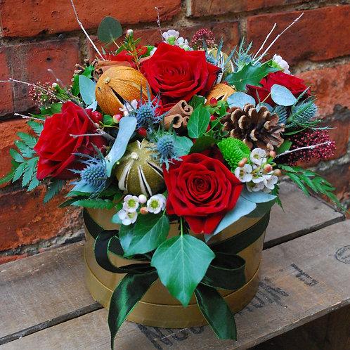 Festive Hat Box Arrangement
