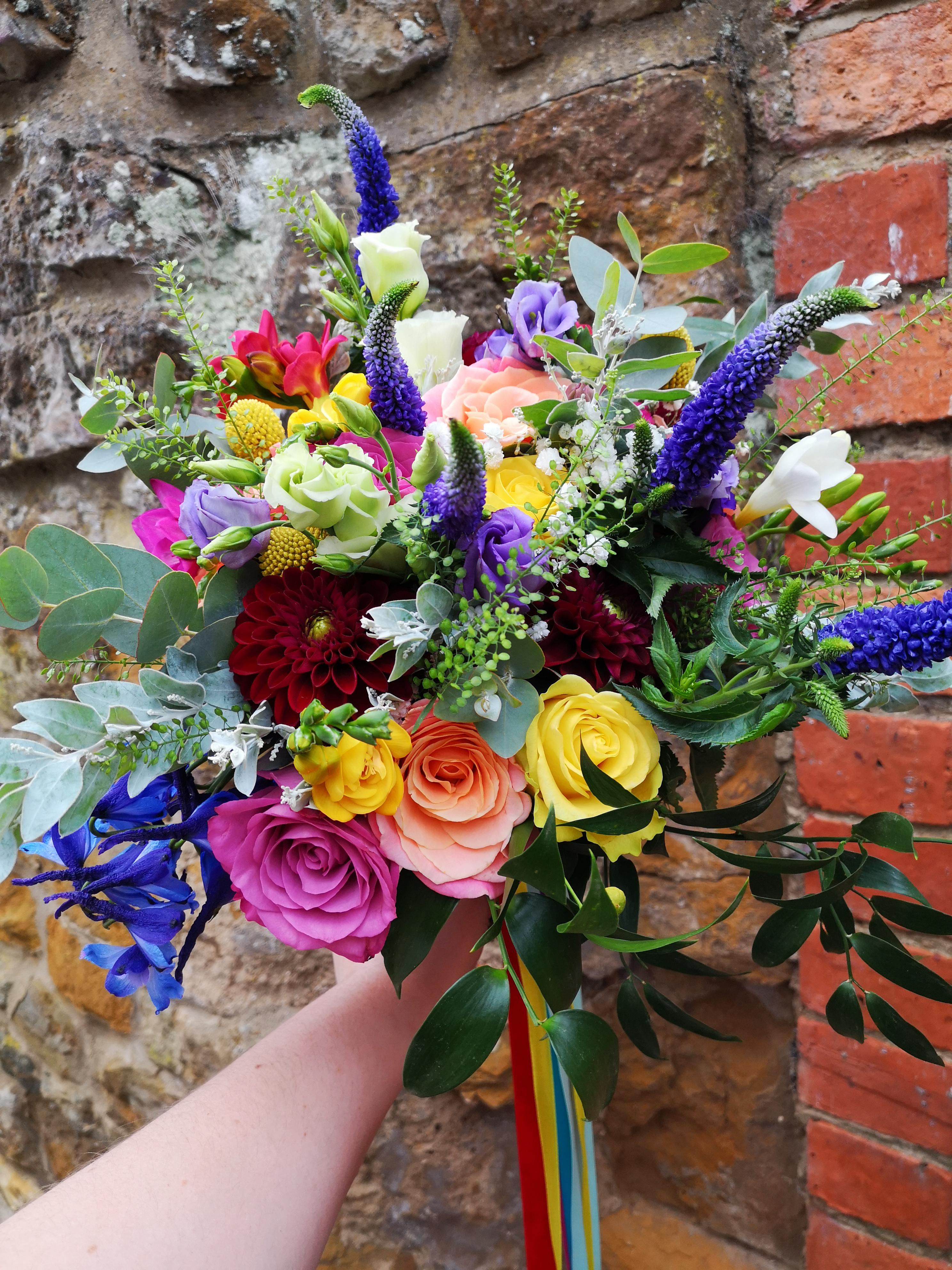 bridal bouquet festival wedding boho bri
