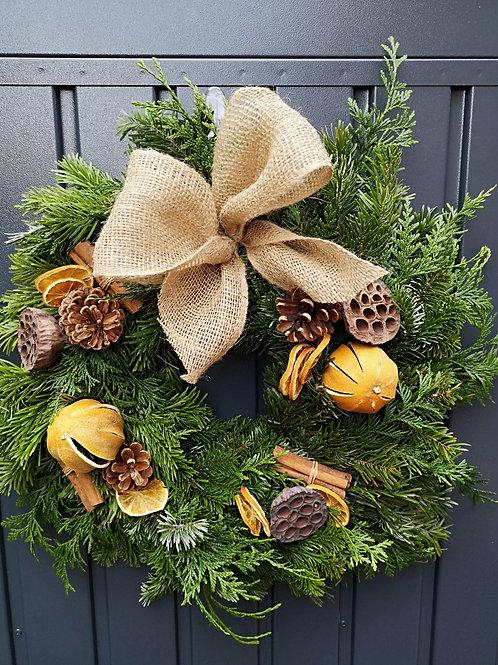 DIY Wreath Box - Rustic Yuletide