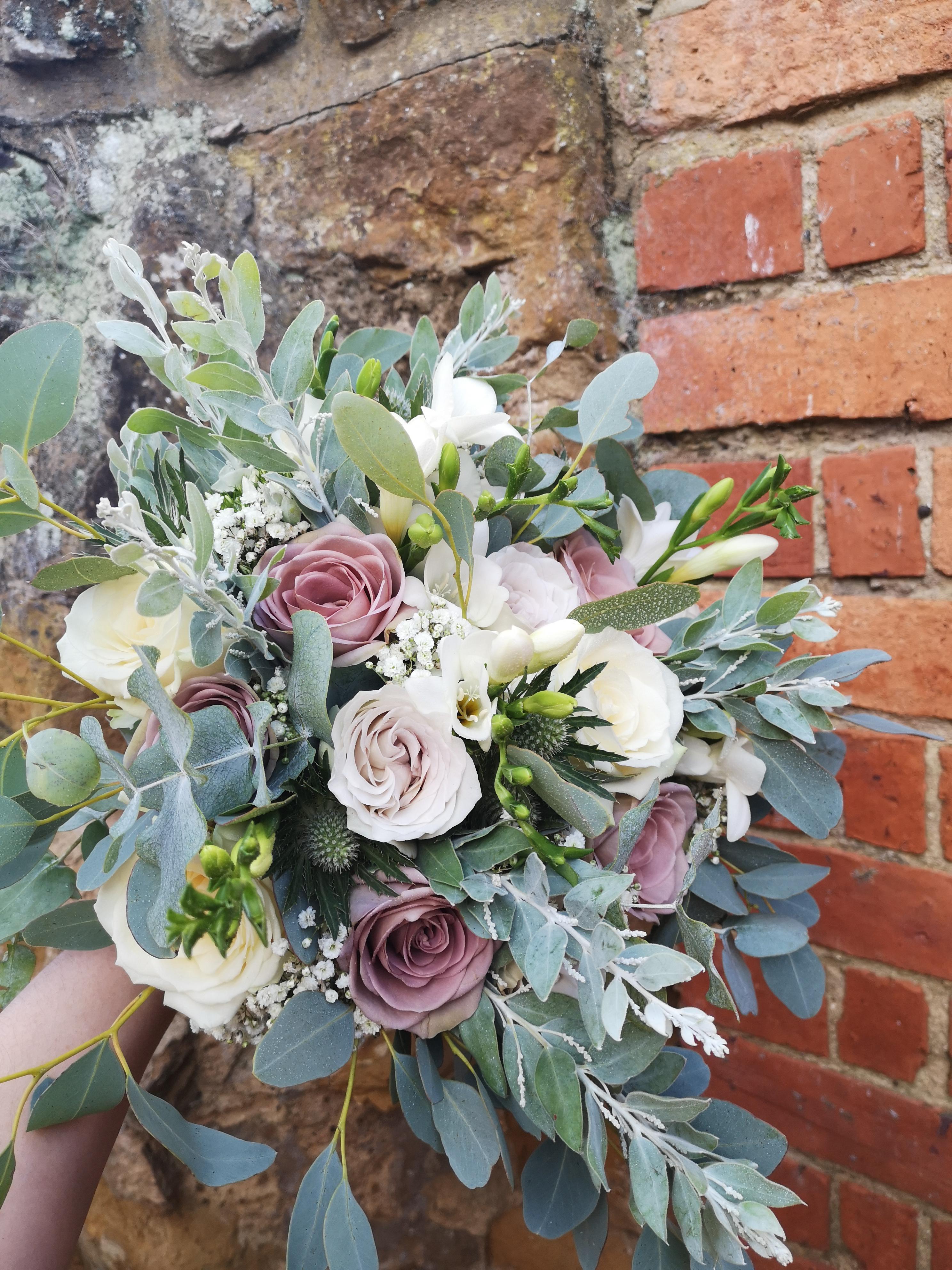 bridal bouquet blush pink dusky pink amn