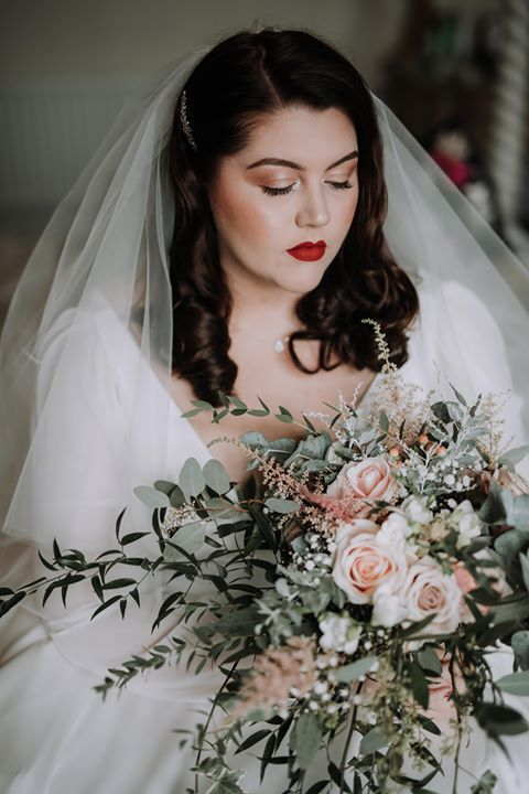 Bridal Bouquet nude blush pink vintage W