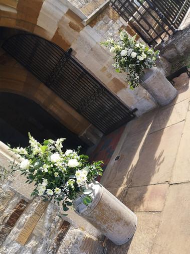 Milk churns/Church entrance