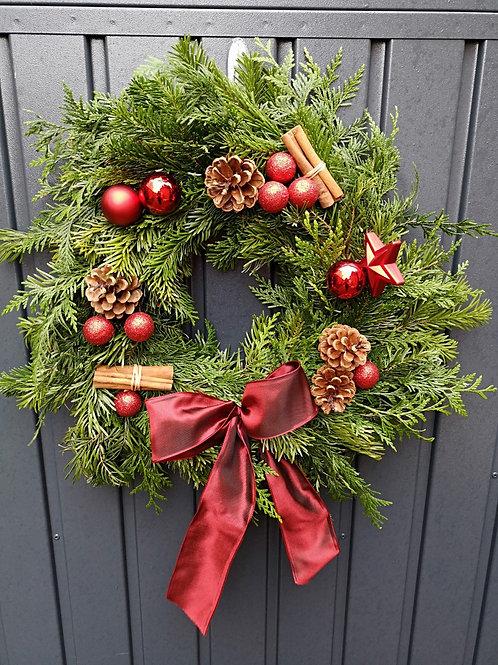 DIY Wreath Box -Berry Red