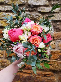 bridal bouquet miss piggy roses summer b