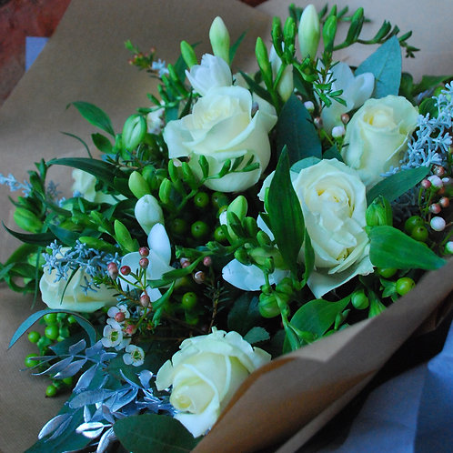 Festive 'Florist Choice' Hand tied Bouquet