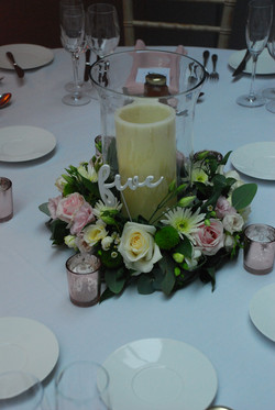 Table Flowers wedding flowers hurricane