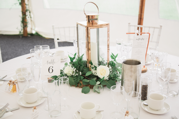Table centres - greenery