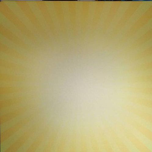 Light Yellow Burst Backdrop Rental