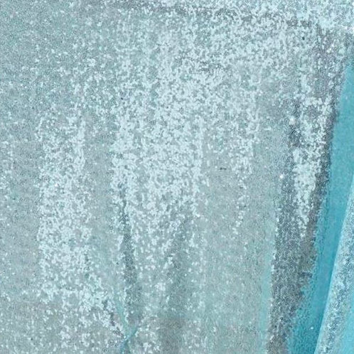 Baby Blue Sequin Tablecloth Rental
