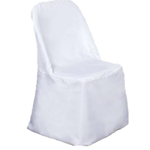 White Folding Chair Cover Rental