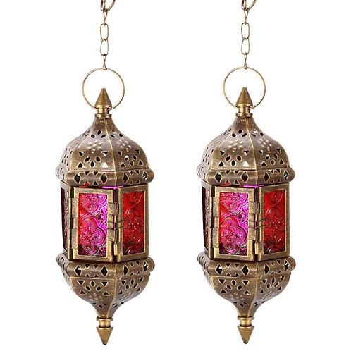 Set of Two Moroccan Hanging Lanterns