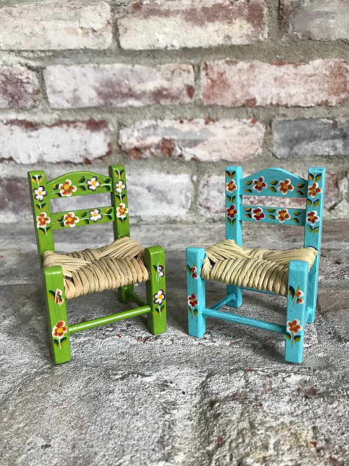 Tiny Mexican Chair Set Rental