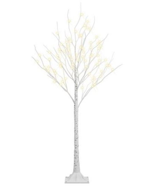 4' Birch Tree with lights rental