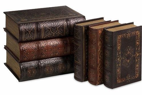 Six Piece Old Books Set-Rental