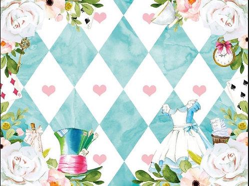 Alice in Wonderland Backdrop Rental
