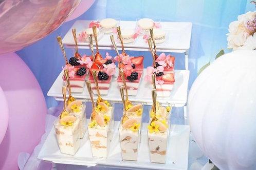 White Three Tier Dessert Stand Rental