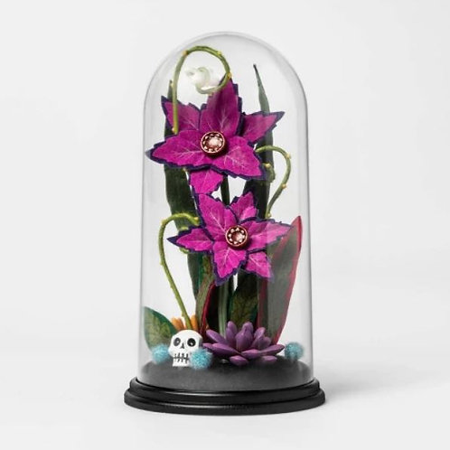 Halloween Cloche Purple Plant Rental