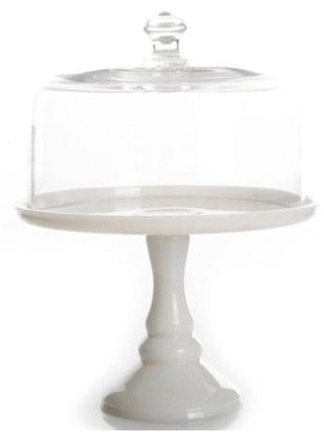 White Milk Glass Cake Stand Rental