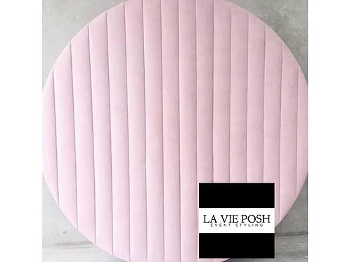 Round Pink Velvet Backdrop Rental