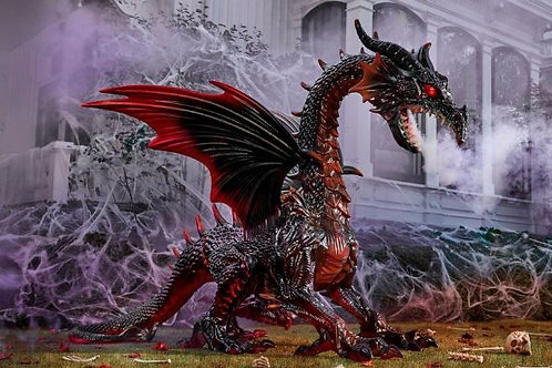 Animated Dragon with Fogging and LED Eyes Rental