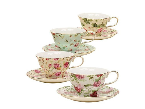 Rose Tea Cup & Saucer Set Rental