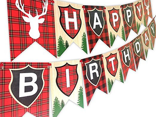 Reindeer Happy Birthday Banner Rental