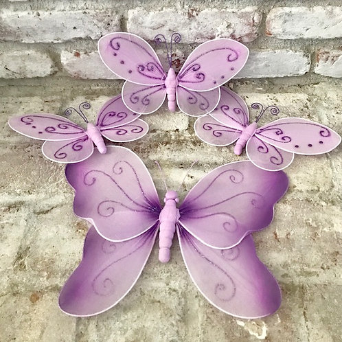 Purple Butterflies Set Rental